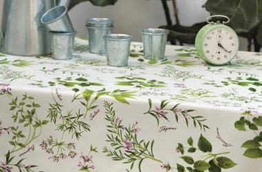Tablecloth herb garden
